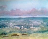 Море_акварель