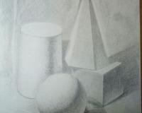 Натюрморт из геометрических фигур.