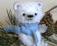 Шьём маленького снежного Медвежонка по технологии Тедди за 2 дня!