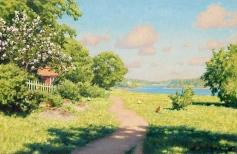Летний деревенский пейзаж