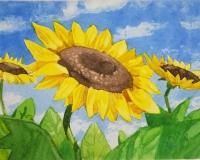 Цветы акварелью - 4 натюрморта за 1 урок!