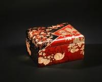 Япония. Лаковая миниатюра. Имитация hiramaki-e