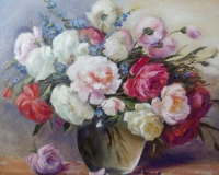 розы и васильки