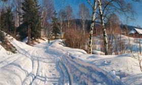 Зимний пейзаж. Двухсеансный урок