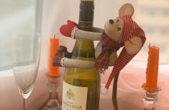 Декор на шампанское «Мышка-проказница»