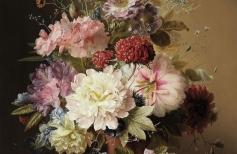 Натюрморт с летними цветами по картине голландского художника ARNOLDUS BLOEMERS. 1 сеанс