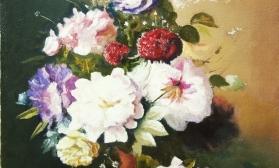 Натюрморт с летними цветами по картине  голландского художника A.BLOEMERS за 2 сеанса.