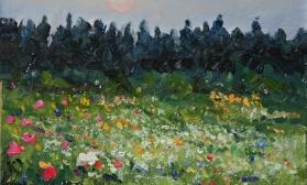 Цветочный луговой пейзаж