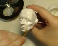 Лепка лица куклы из запекаемого пластика