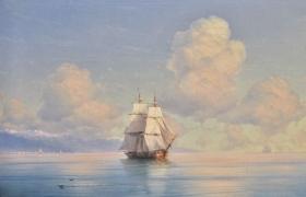 """""""Корабль у побережья"""" по картине И.К. Айвазовского"""