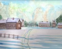 Деревенский зимний пейзаж с Сергеем Горбачевым