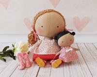 Кукла Тильда малышка с полным гардеробом