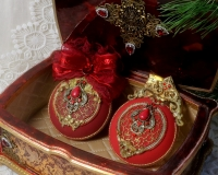Новогодние игрушки «Королевский бархат»