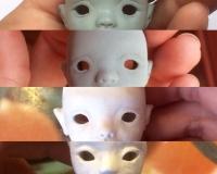 Блок №1.Создание шарнирной куклы из самозатвердевающей глины от Анны Трегубенковой. «Пошаговая лепка головы с учётом съёмной крышки, вставных глаз и крепежного крючка.»