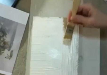 Создание сложного фактурного фона, имитирующего дерево