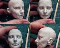Базовый курс по шарнирной кукле из самозастывающей глины Евгении Авраам. Урок 7. Голова