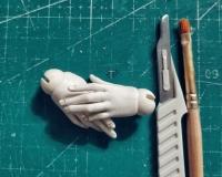 Базовый курс по шарнирной кукле из самозастывающей глины Евгении Авраам. Урок 6. Кисти рук