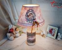 Лампа в стиле «Шебби шик»