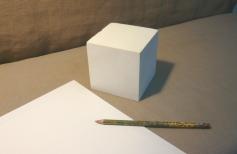 Академический рисунок куба. Урок 1.