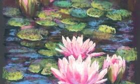 Водяные лилии на пруду
