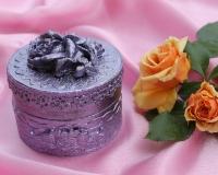 шкатулка с розой