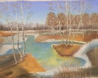 По МК Марины Весенний пейзаж\