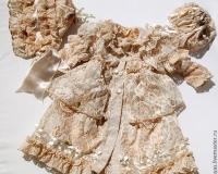 Выкройка летнего пальто на подкладке для куклы