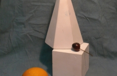 Натюрморт маслом из нескольких предметов с включением геометрических фигур. Простой. Урок 6.