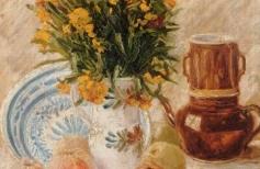 """Ван Гог  """"Ваза с цветами фруктами и кофейником"""""""