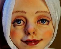 Роспись лица авторской куклы