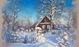 Солнечный зимний пейзаж