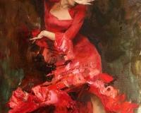 Танцовщицу фламенко