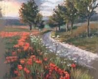 Цветущее маковое поле
