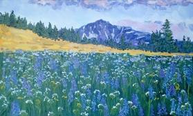 Пейзаж с полевыми цветами