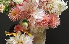 Осенний букет георгинов