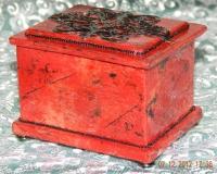 Шкатулочка из красной яшмы
