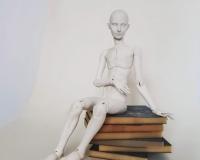 Базовый курс по шарнирной кукле из самозастывающей глины Евгении Авраам. Урок 8. Подготовка к полной сборке и сборка