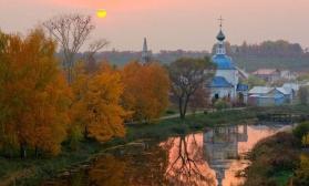 Осенний пейзаж с отражением. Двухсеансный урок