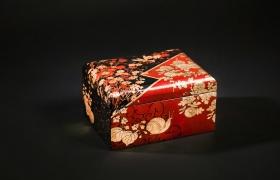 Япония. Лаковая миниатюра.Имитация hiramaki-e