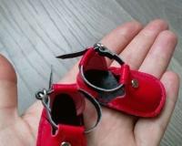 Красные сандальки