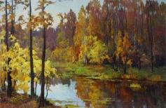 Осенний пейзаж. Свободная копия по картине В. Довбенко
