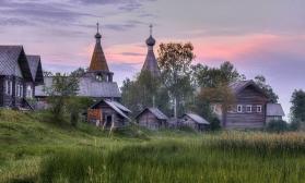 Деревня на рассвете