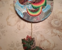 часы по мотивам Наташиного панно с фруктами