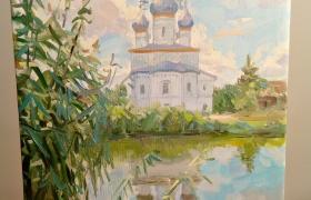 Древнерусский собор на озере