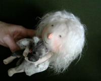 Текстильная кукла - Ангел , по картине Е. Гапчинской \