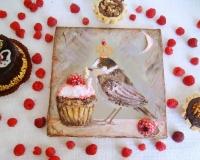 Создание декоративного панно «Птичка-сладкоежка»