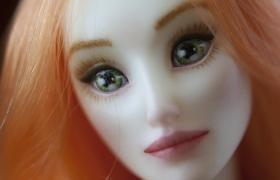 """Онлайн- курс """"Авторская шарнирная кукла из пластика"""". Урок 5. Роспись лица"""