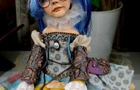 """""""Мальвина""""- девочка с голубыми волосами"""