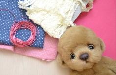 Одежда для игрушки и армирование лапок с помощью позвоночника
