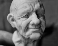 Лепка головы куклы-старика